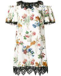 Dolce & Gabbana - Floral Print Dress - Lyst