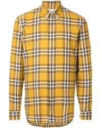 Maison Margiela - Plaid Buttondown Shirt - Lyst