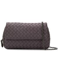 494f860bbc Bottega Veneta Woven Shoulder Bag in Natural - Lyst