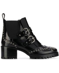 RED Valentino - Red(v) Brogue Ankle Boots - Lyst