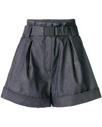 N°21 - High-waisted Denim Shorts - Lyst