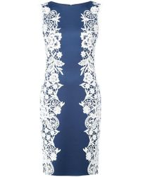 Tadashi Shoji - Floral Embroidered Fitted Dress - Lyst