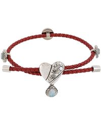 Alexander McQueen - Heart Pendant Bracelet - Lyst