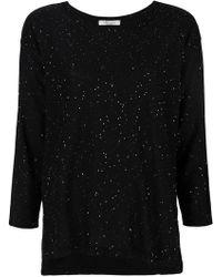 Blumarine - Splatter Style Knit Top - Lyst