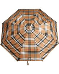 Burberry - Vintage Check Folding Umbrella - Lyst