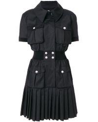 Karl Lagerfeld - Pleated Hem Shirt Dress - Lyst