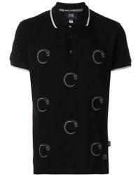 Class Roberto Cavalli - Snake Prints Polo Shirt - Lyst