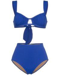 Three Graces London - Bridget Gathered Bikini - Lyst