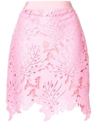 MSGM - Leaf Patch Mini Skirt - Lyst