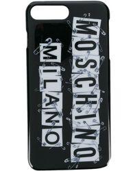 Moschino Coque diPhone 7 imprimée - Noir