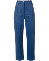 JW Anderson - Check Print Trousers - Lyst