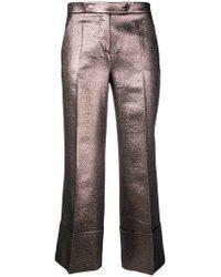 Mantu - Pantalones de vestir metalizados - Lyst