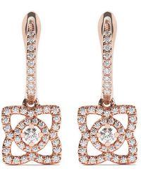 De Beers - 18kt Rose Gold Enchanted Lotus Diamond Sleeper Earrings - Lyst