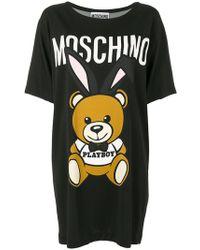 Moschino - Playboy Teddy Bear T-shirt Dress - Lyst