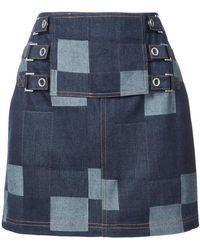 Opening Ceremony - Denim Tab Mini Skirt - Lyst