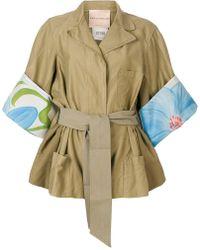 Erika Cavallini Semi Couture - Printed Cuff Jacket - Lyst