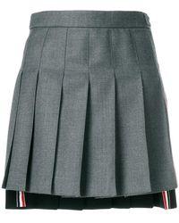 Thom Browne - Striped Pleated Fun Mix Mini Skirt - Lyst