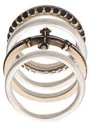 Werkstatt:münchen - Embossed Stackable Rings - Lyst