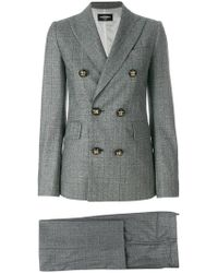 DSquared² - Checked Trouser Suit - Lyst
