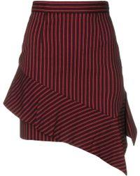 Pinko - Asymmetric Stripe Mini Skirt - Lyst