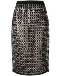Marco De Vincenzo - Sequin Pencil Skirt - Lyst