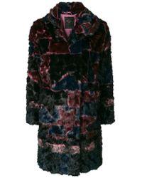Frankie Morello - Dyed Faux Fur Coat - Lyst