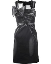 Moschino - Bow-detail Fitted Dress - Lyst