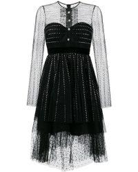 Philosophy Di Lorenzo Serafini   Diamanté Embellished Tulle Dress   Lyst