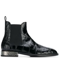 Alberto Gozzi - Embossed Surface Boots - Lyst
