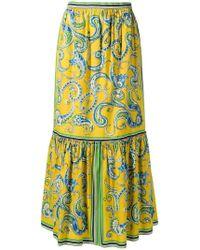 e27c438f6 Philosophy Di Lorenzo Serafini High-waisted Floral Skirt in Blue - Lyst