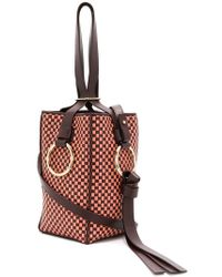 Nina Ricci - Checked Bucket Shoulder Bag - Lyst