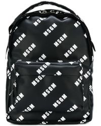 MSGM - Small Branded Backpack - Lyst