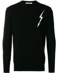 Givenchy - Lightning Bolt Knit Sweater - Lyst