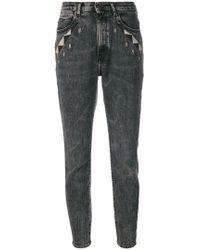 Diesel Black Gold - Geometric Detailed Skinny Jeans - Lyst