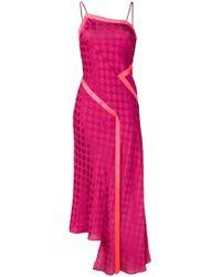 House of Holland - Polka-dot Asymmetric Dress - Lyst