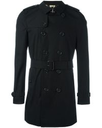 Burberry - Mid Belted Trenchcoat - Lyst
