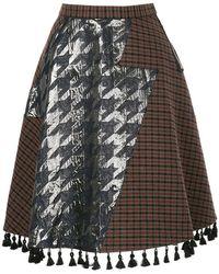 Kolor - Patchwork Skirt - Lyst