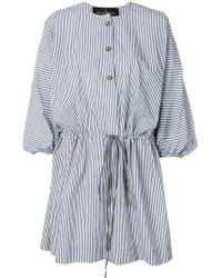 Vivienne Westwood Anglomania - Striped Cotton Shirt Dress - Lyst