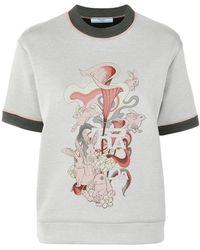 Prada - Rabbit Logo Print T-shirt - Lyst