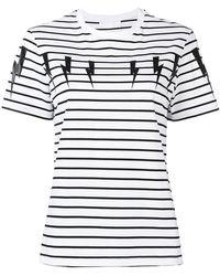 Neil Barrett - Striped Thunderbolt T-shirt - Lyst