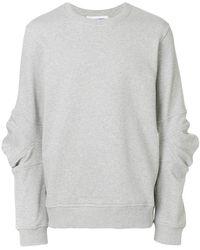 Comme des Garçons - Crew Neck Deconstructed Sweatshirt - Lyst