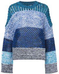 10 Crosby Derek Lam - Colorblocked Gradient Sweater - Lyst