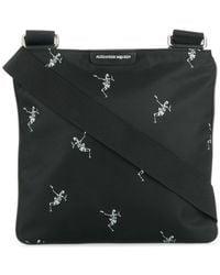 Alexander McQueen - Skeleton Print Messenger Bag - Lyst