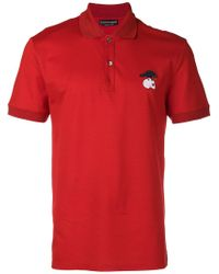 Alexander McQueen - Bird And Skull Embroidered Polo Shirt - Lyst