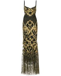 Marchesa notte - Embroidered Corset Gown - Lyst