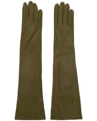 Erika Cavallini Semi Couture - Long Leather Gloves - Lyst