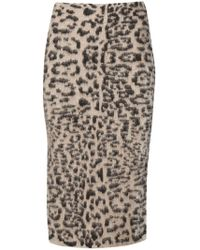 Laneus - Animal Print Skirt - Lyst
