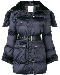 Pinko - Belted Padded Jacket - Lyst