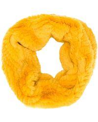 Yves Salomon - Textured Fur Snood - Lyst