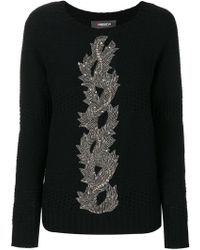 Jo No Fui - Embroidery Knit Sweater - Lyst